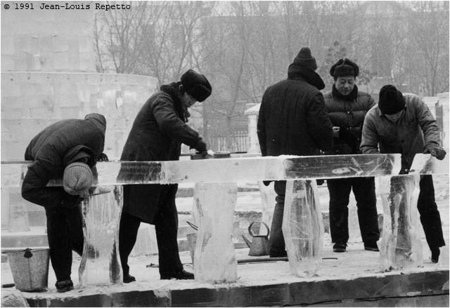 Harbin - Chantier glace