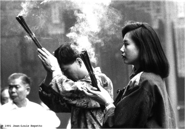 Shanghai - Jeune fille au temple